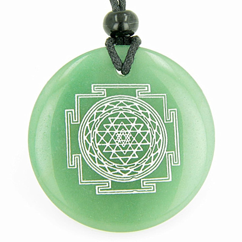 Sri yantra chakra talisman green quartz magic pendant necklace sri yantra chakra talisman green quartz magic pendant necklace bestamulets amazon jewellery mozeypictures Choice Image