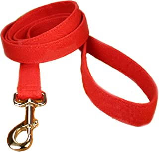 "product image for Hemp Canvas Basic Leashes (1"" Standard, Red)"