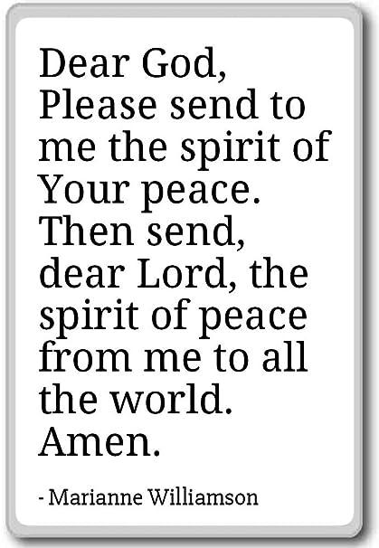 Amazoncom Dear God Please Send To Me The Spirit Marianne