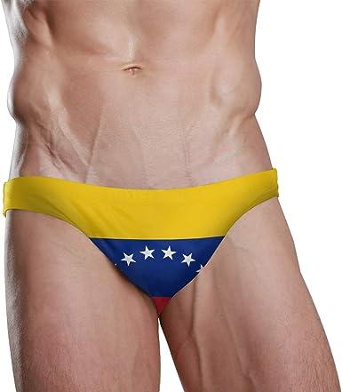 DEZIRO traje de baño breve masculino bandera Venezuela hombres nadar breve hombres ropa interior: Amazon.es: Ropa y accesorios