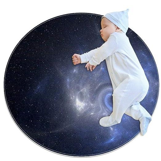 Longfind Alfombra Redonda Suave para niños y niñas, diseño de ...