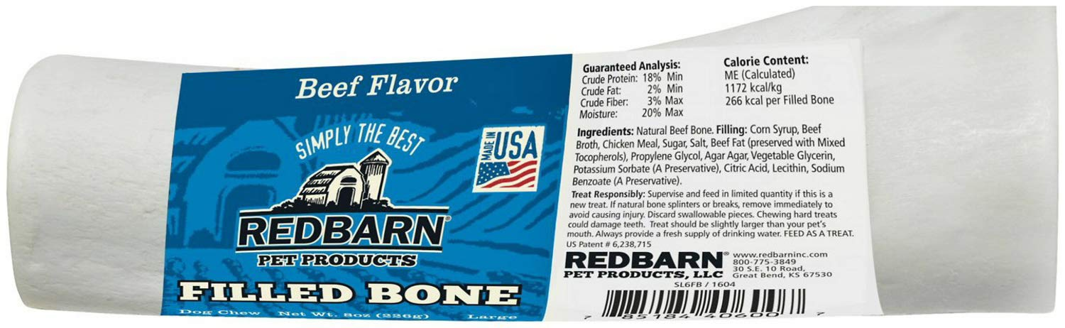 Red Barn Dog Treats Filled Bones Beef, Large (Pack Of 15) by REDBARN (Image #2)