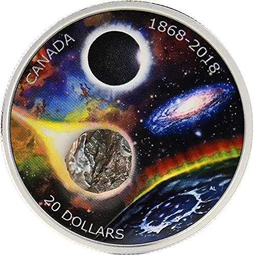 2018 CA Modern Commemorative PowerCoin ROYAL ASTRONOMICAL SOCIETY Meteorite 150th Anniversary 1 Oz Silver Coin 20$ Canada 2018 Proof