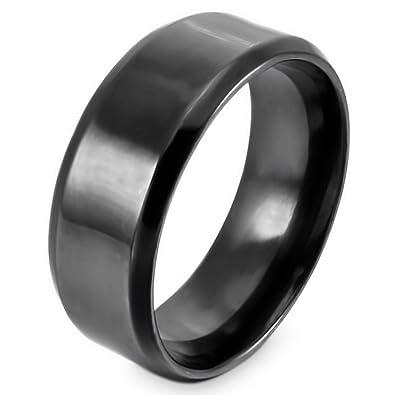 MunkiMix Acero Inoxidable Banda Venda Anillo Ring Negro ...