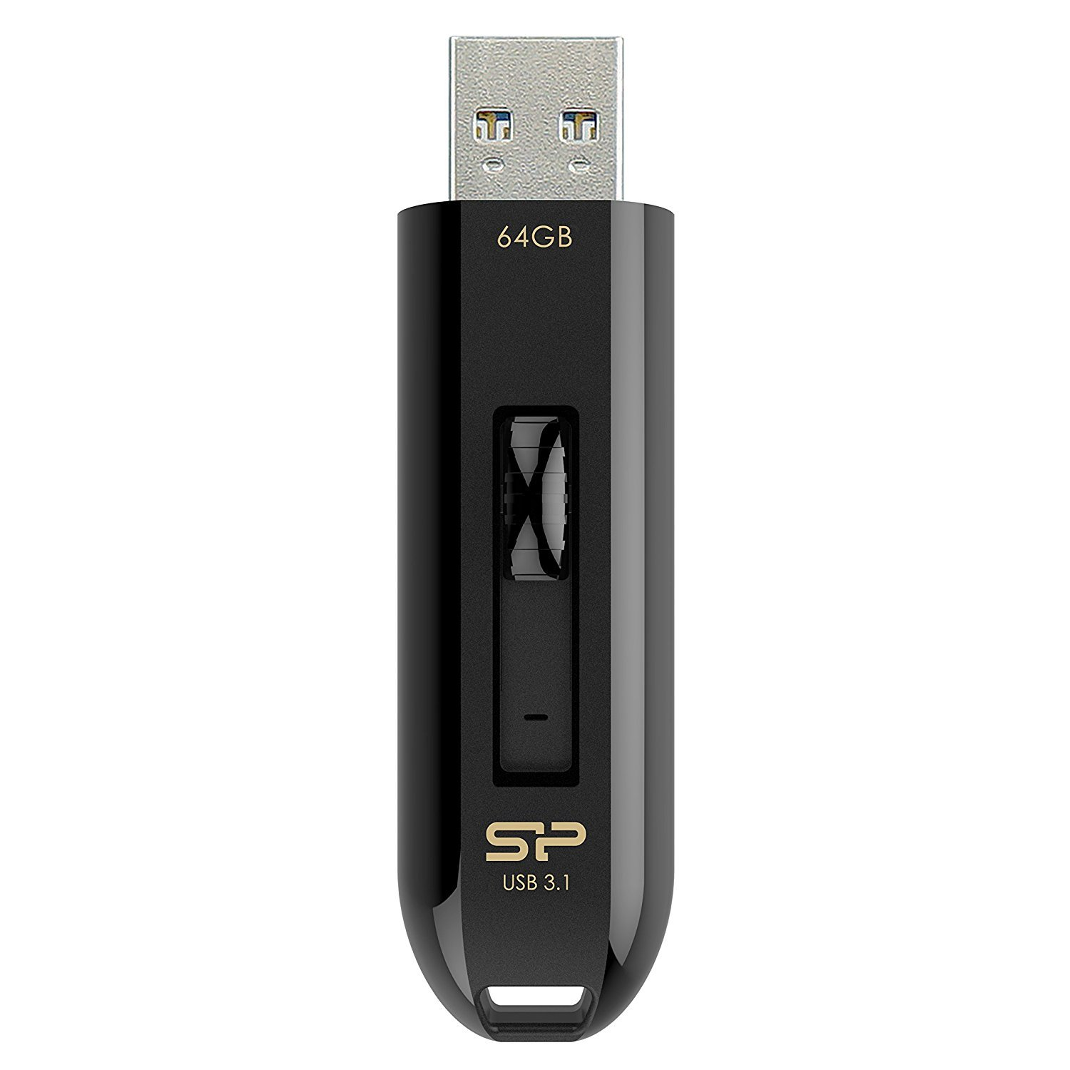 Silicon Power 64GB Flash Drive Blaze B21 USB3.0/3.1G1 High Performance  black (SP064GBUF3B21V1K) by Silicon Power