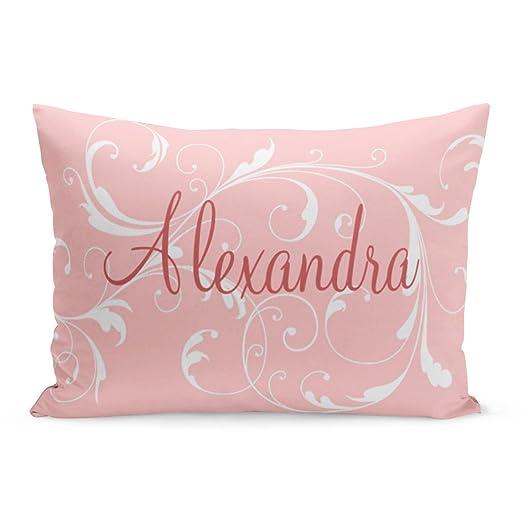 Abakoyi Funda de Almohada Personalizada Rosa Bonito Nombre ...