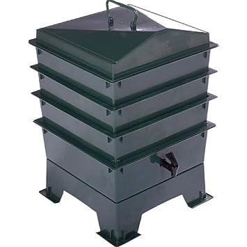 Lombricario Green Tiger Rainbow estándar con 3 bandejas apilables, compostera, contenedor de compost orgánico