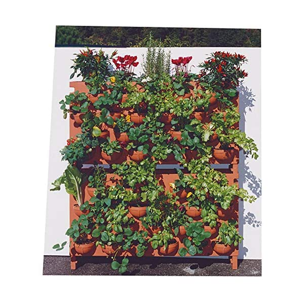 vanossi Giardino Verticale 22 Vasi 100x26x60cm in Polietilene L'Orto di Giulio Antracite 2 spesavip