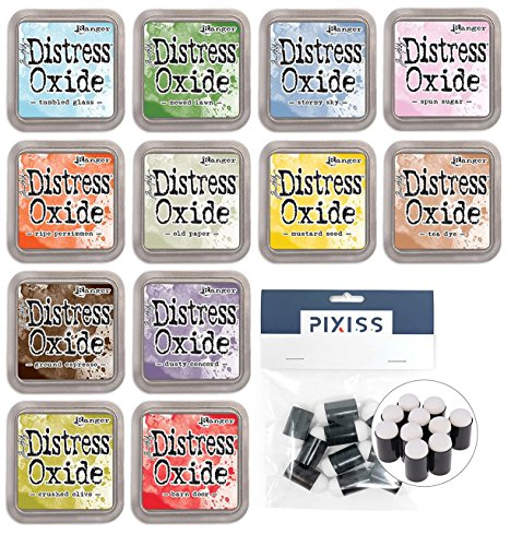 Tim Holtz Distress Oxide Ink Pads Summer 2018 Colors with 10 Pixiss Daubers -
