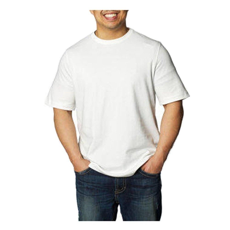 7c58951eaa09e2 Amazon.com  Kirkland Signature Men s Short Sleeve Peruvian Pima Cotton Crew  Neck Tee  Clothing