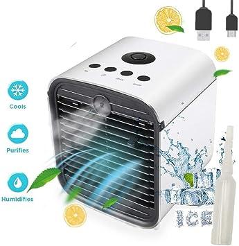 Nifogo Air Mini Cooler Aire Acondicionado Portátil, 3-en-1 ...