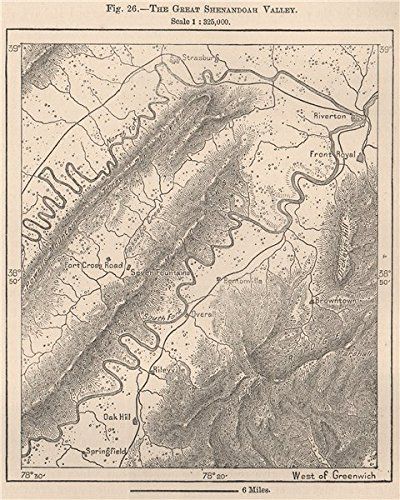 Amazoncom The Great Shenandoah Valley Virginia Old Map - Vintage map of virginia