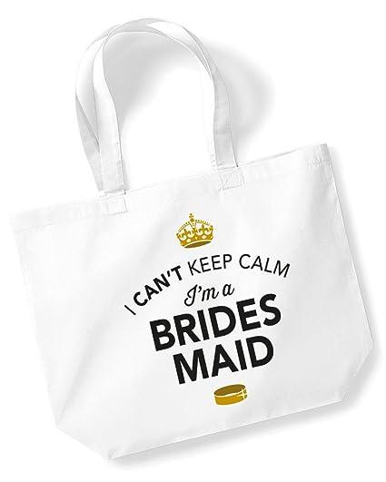 KEEP CALM I/'M THE FLOWER GIRL Hen Night COTTON SHOULDER BAG Wedding