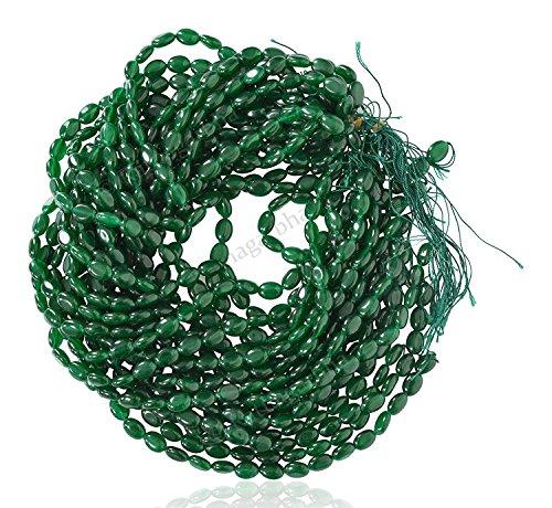 Ratnagarbha Emerald Green Color Quartz Smooth Oval (mani) Shape Loose Gemstone Beads Strand, 10x14-12x16-13x18 mm, Jewelry Making, Wholesale Price, Exclusively by Ratnagarbha.