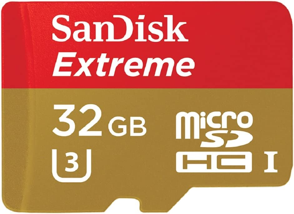 SanDisk Extreme 32GB microSDXC UHS-I Card with Adapter (SDSQXNE-032G-GN6MA) [Old Version]