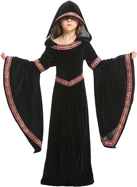 Disfraz Medieval De Los Ninos Ninas Impreso Rojo Velvet Maxi ...
