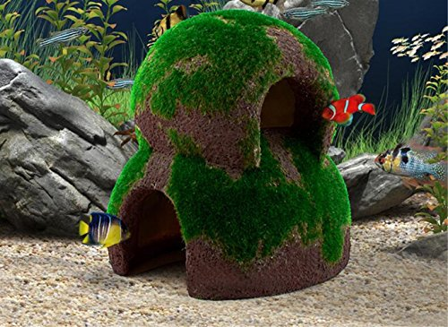 Fish Hideout Betta Cave Aquarium Decorations Natural Habitat Made From Resin Soft-textured Smooth Edges & Spacious Hideout for Betta Fish to Rest and Breed