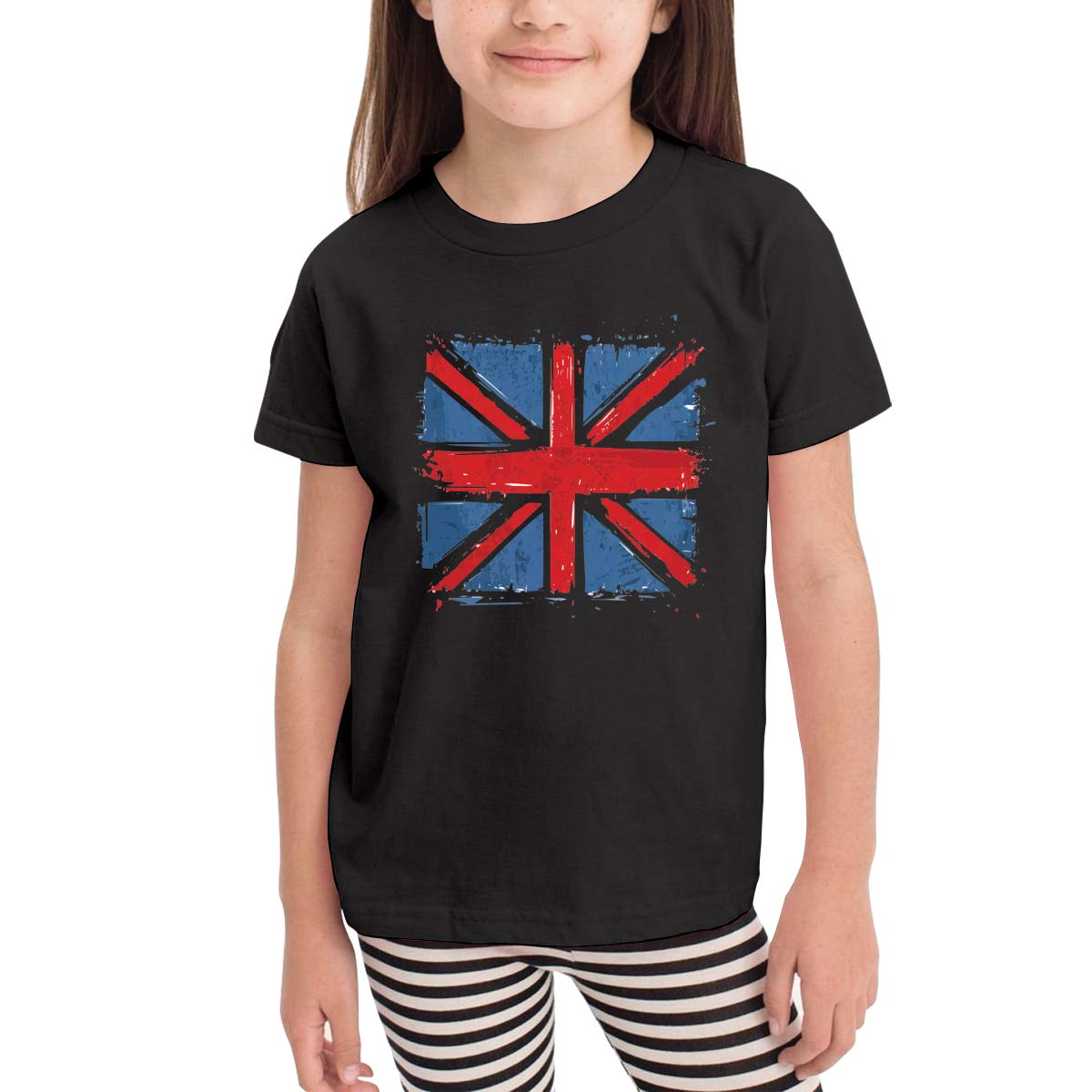 Onlybabycare The Union Flag 100/% Cotton Toddler Baby Boys Girls Kids Short Sleeve T Shirt Top Tee Clothes 2-6 T