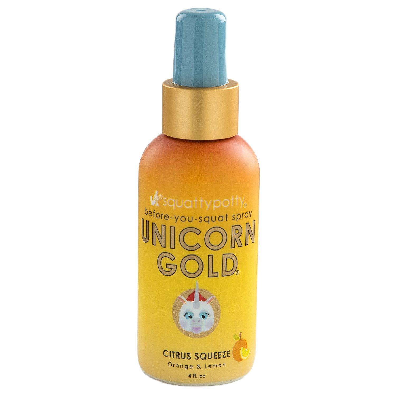4 FL OZ. Squatty Potty Unicorn Gold Toilet Spray, Citrus Squeeze