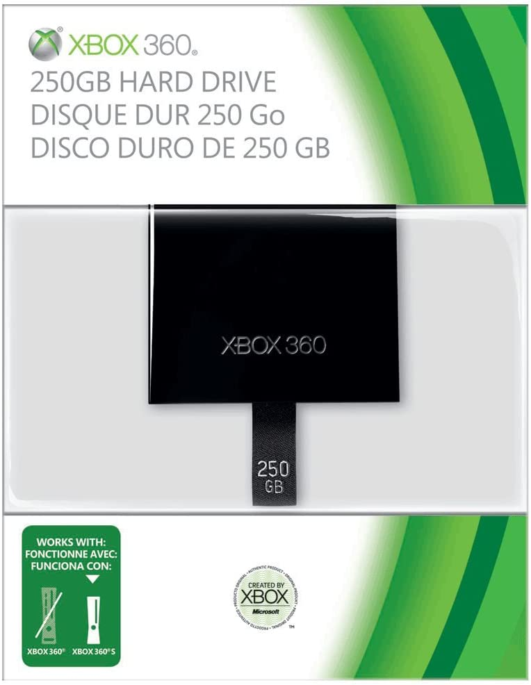 Amazon com: Xbox 360 250GB HardDrive - Xbox Slim Only: Video