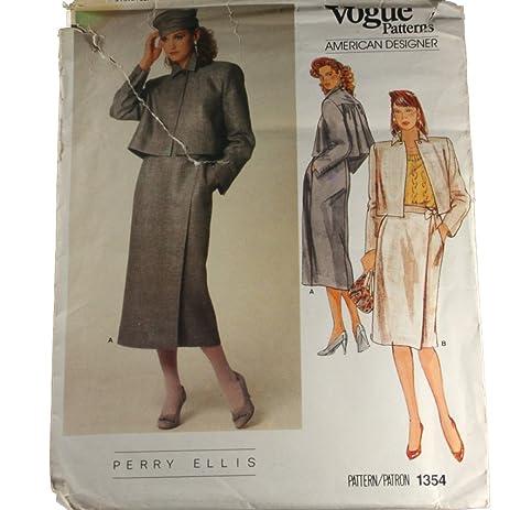 Amazon.com: Vogue 1354 American Designer Sewing Pattern Perry Ellis ...