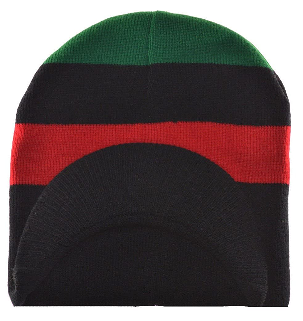 MM Red Black and Green Pan-African Flag Inspired Beanie Cap at Amazon Men s  Clothing store  Skull Caps d4a8e058ddc