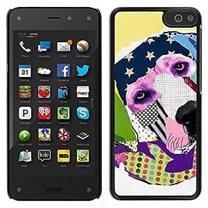 EJOY---Cubierta de la caja de protección para la piel dura ** Amazon Fire Phone ** --Labrador Retriever América Arte Moderno
