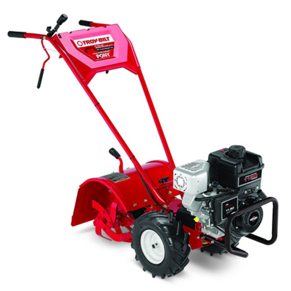 best rear tine tiller - Troy-Bilt Pony ES 250cc Gas Powered Electric Start Forward Rotating Rear Tine Tiller