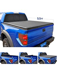 Tyger Auto TG-BC1F9029 TOPRO Roll & Lock Truck Bed Tonneau Cover 2015-2018 Ford F-150 | Styleside 5.5' Bed