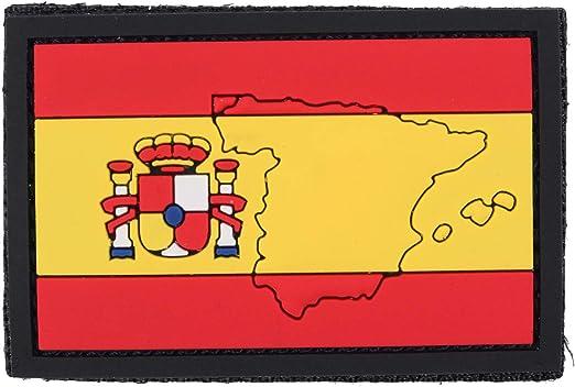 101 INC Parche De PVC Bandera del País (7 x 5 cm, España): Amazon ...