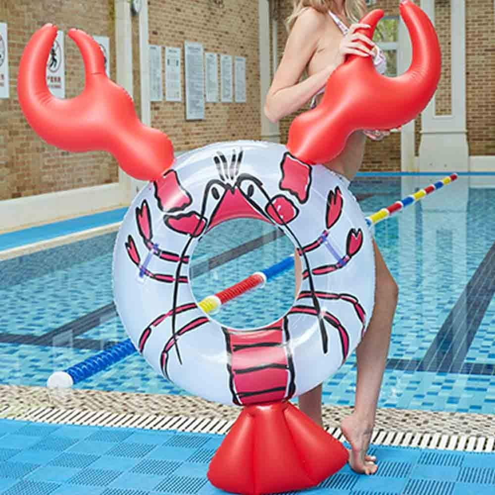 Neo Chimera Giant Shrimp Pool Float - Inflatable Lobster Swimming Ring - 63''x 37''x 34'' Summer Water Toy