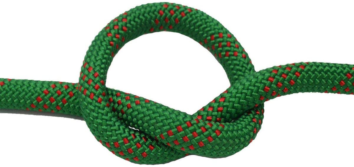 YUZENET Static Rock Climbing Rope 2//5 Inch 50 Feet Outdoor Safety Fire Escape Rope Rappelling Rope,Green//Red