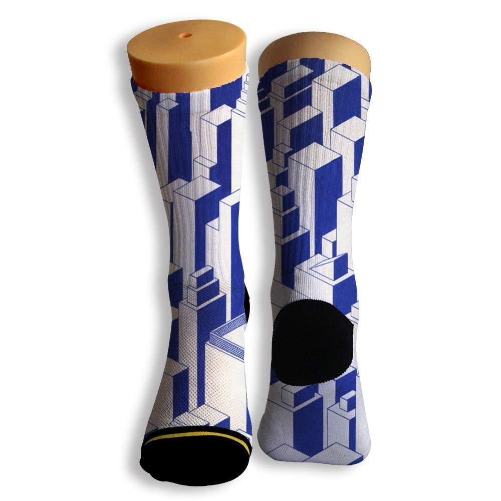 Basketball Soccer Baseball Socks by Potooy Building Skyscraper 3D Print Cushion Athletic Crew Socks for Men Women