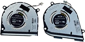 Rangale CPU and GPU Cooling Fan Replacement for HP Envy X360 15-DS 15-DR 15M-DS 15M-DS0011DX 15-DS0013NR 15-DS0003CA 15-DS0013CA Series Laptop L53542-001 L53541-001