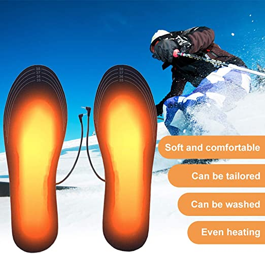 Calentadores de Pies TUKNON Plantillas Calefactables Suelas Calentables para al Aire Libre Invierno Senderismo Camping Climatizada Plantillas