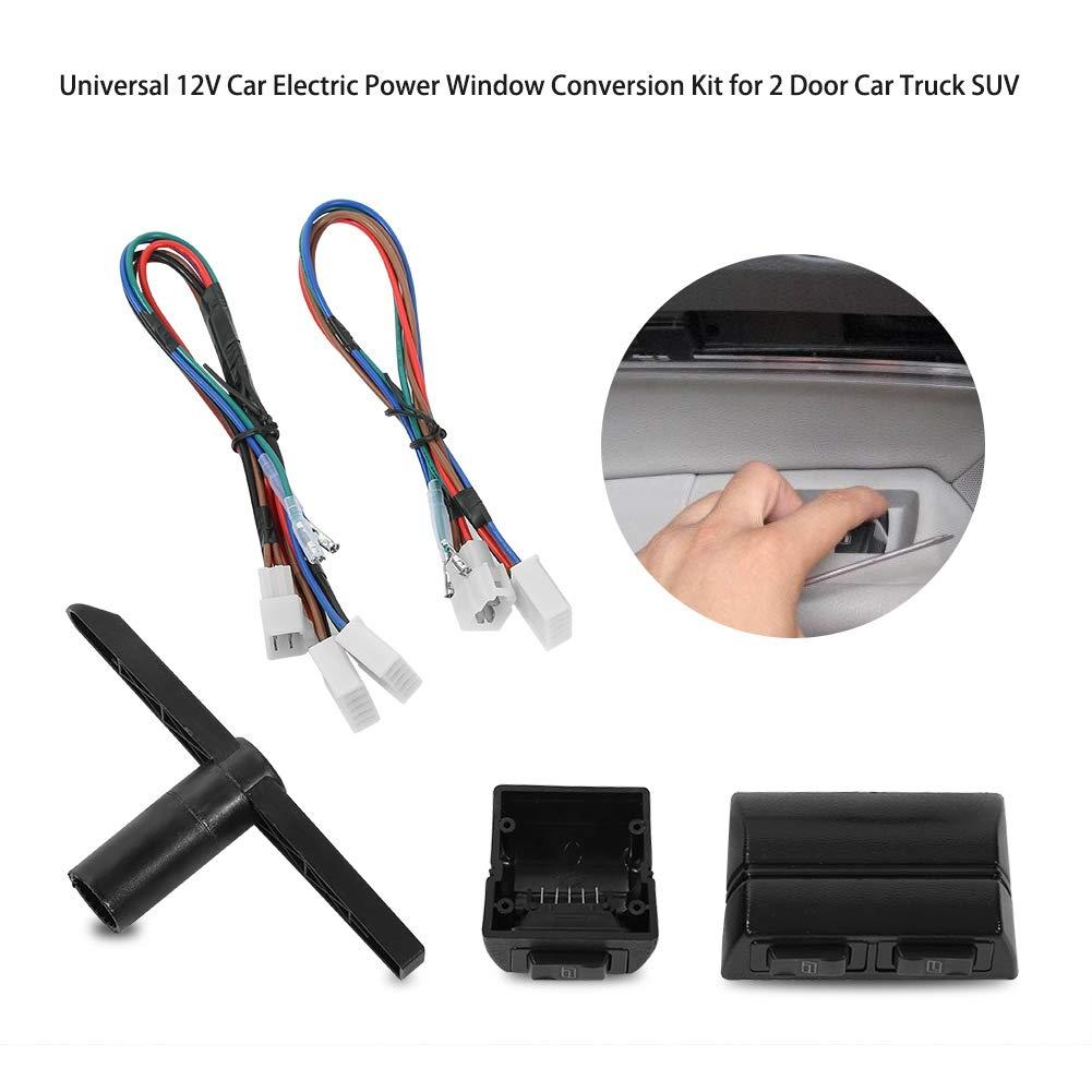 l/ève-vitre elettrico auto /2/porte 12/V l/ève-vitre elettrico universale controllo di finestra Interruttore per auto auto camion SUV/