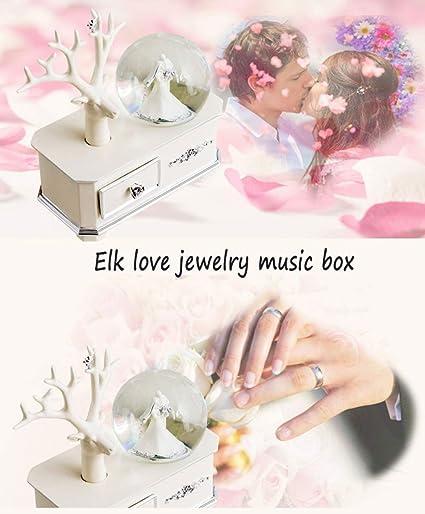 Regali Di Natale Romantici.Kyokim Carillon Di Cristallo Della Sfera Degli Amanti Romantici
