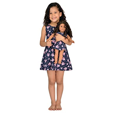 Amazon.com: Girl and Doll Matching Dress Clothes Fits American ...