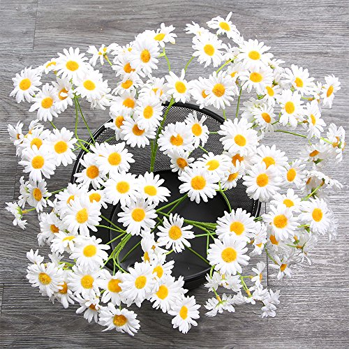 AmyHomie Artificial Flowers, Silk Daisy, Artificial Gerber Daisy for Home Decoration, Artificial Daisy for Wedding Decoration (Daisy Wedding Decorations)