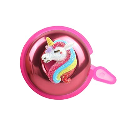 Right Hand KSdeal Bike Bell for Kids Girls Toddlers,Pink Unicorn Aluminum Bicycle Bell,Childrens Bike Accessory,Loud Crisp Clear Sound Bike Bell