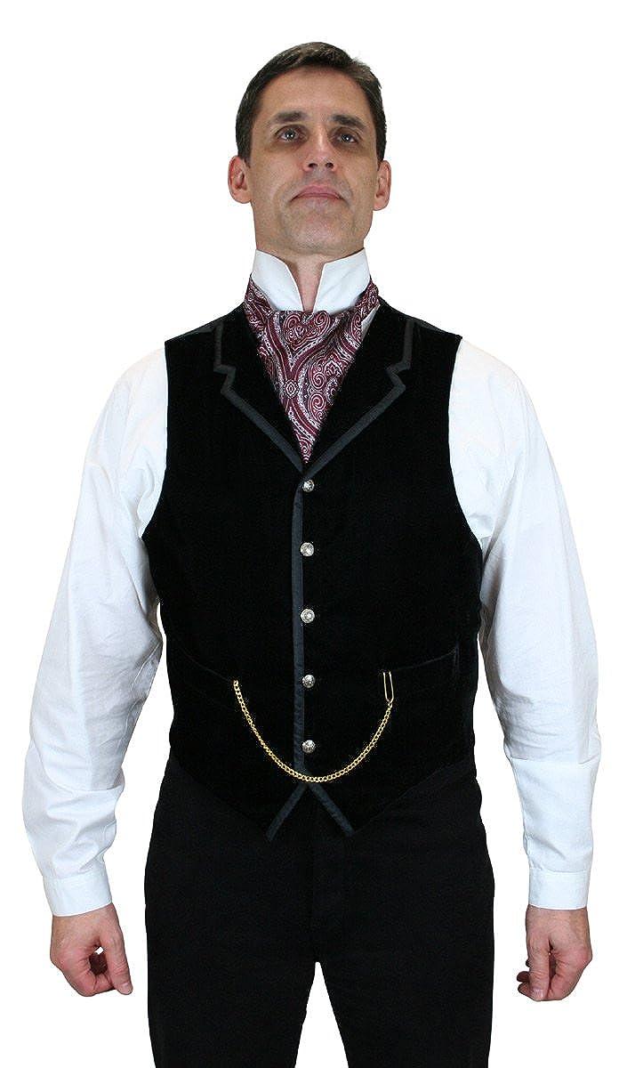 Historical Emporium Mens Bonaventure Velvet Dress Vest 005884