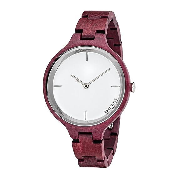 Kerbholz Reloj Digital para Mujer de Cuarzo con Correa en Madera 4251240401157: Amazon.es: Relojes