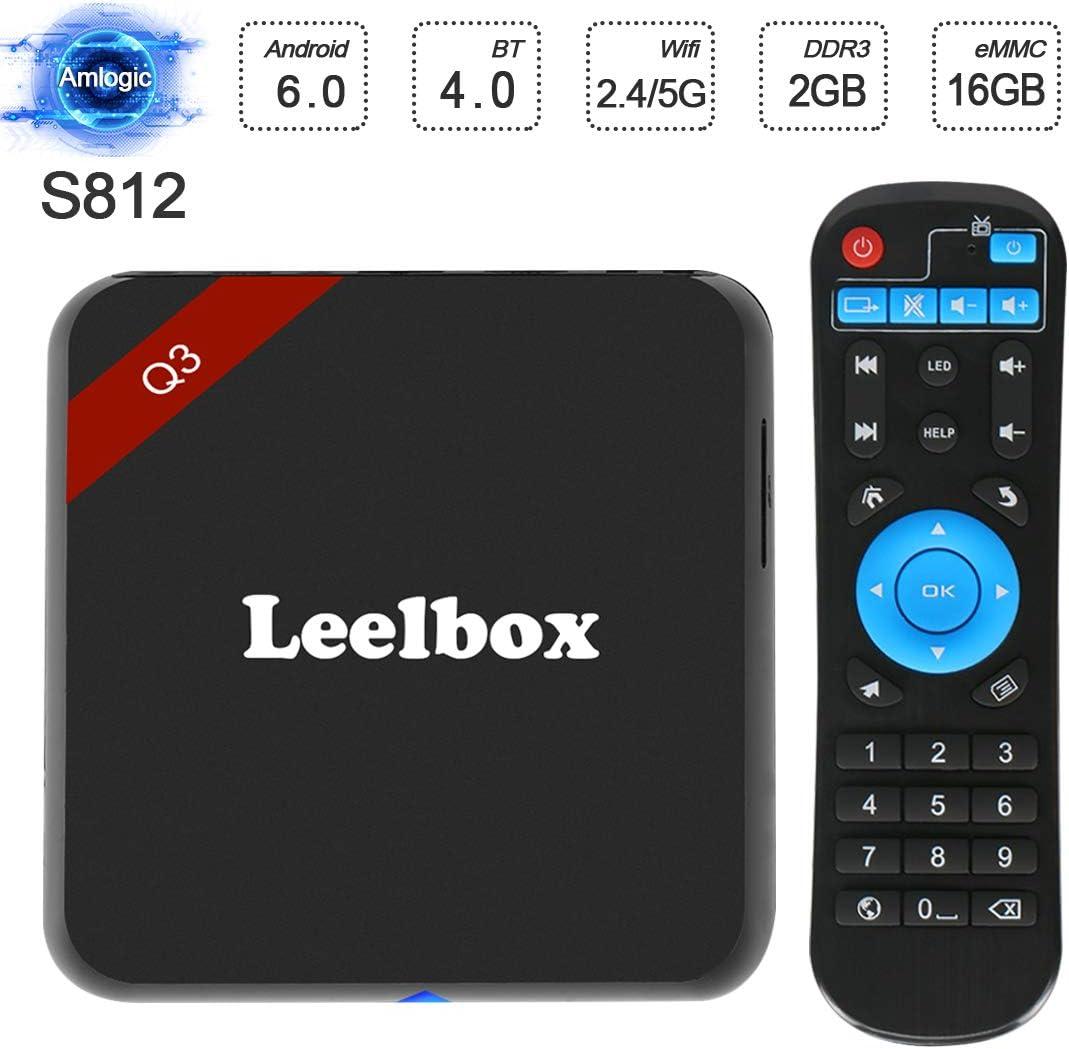 2017 versión] Leelbox Q3 Android 6.0 TV Box S912 Octa Core CPU 2 GB/16GB/dual-wifi 2,4 GHz/5.0ghz/1000 m LAN: Amazon.es: Electrónica