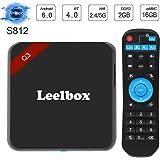 Leelbox Android TV Box, Q3 Andriod 6.1 Smart TV Box 5G WiFi 2G+16G TV Box