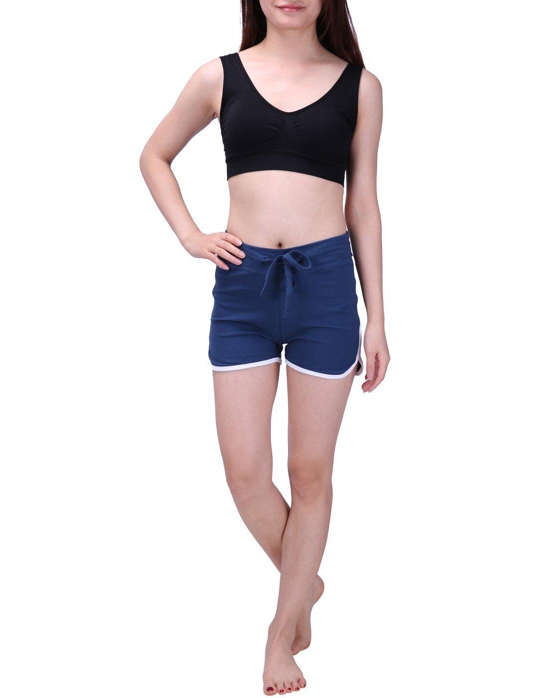 HDE Women's Retro Fashion Dolphin Running Workout Shorts (Midnight Blue, Medium) by HDE (Image #6)