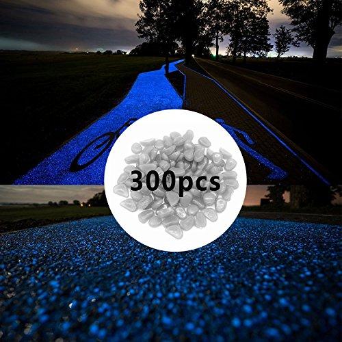 300pcs Glow in The Dark Pebbles for Walkways Décor, Outside Bulk Glow in The Dark Rocks for Outdoor Fairy Garden,...