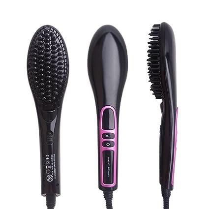Cepillo de pelo alisado de Peine Plancha de pelo viaje tamaño anti calor estática contra –