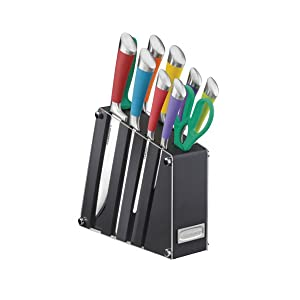 Cuisinart C77SS-11PA, Arista Collection 11 Piece Block Set Kitchen Cutlery, Multi-Colored