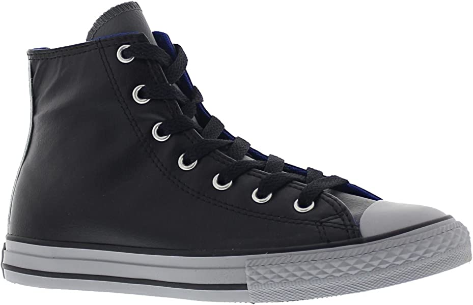 ee5f1e74c4a7 Converse Kids Chuck Taylor All Star Hi Black Synthetic Trainers 12 UK   Amazon.co.uk  Shoes   Bags