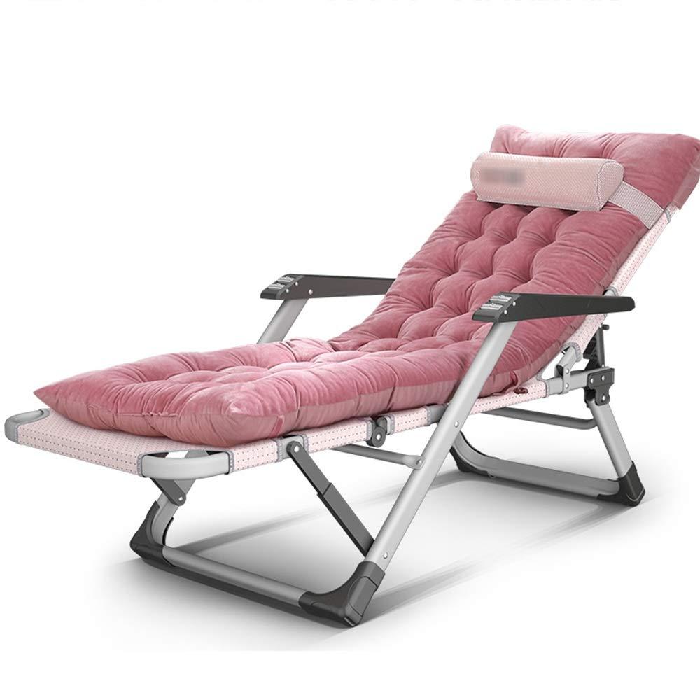DD- サンラウンジャー、昼寝ベッドを折りたたむ、バルコニーラウンジチェア、大人用ホームビーチチェア、携帯用フロントチェア、怠惰なソファ (色 : A) B07PJNWTNB A